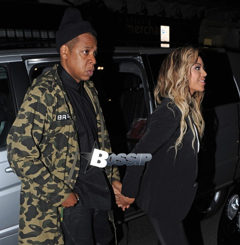 Jay-Z and Beyonce arrive at The Arts Club after Beyonce's 'The Mrs. Carter Show World Tour' show at the O2 Arena in London.